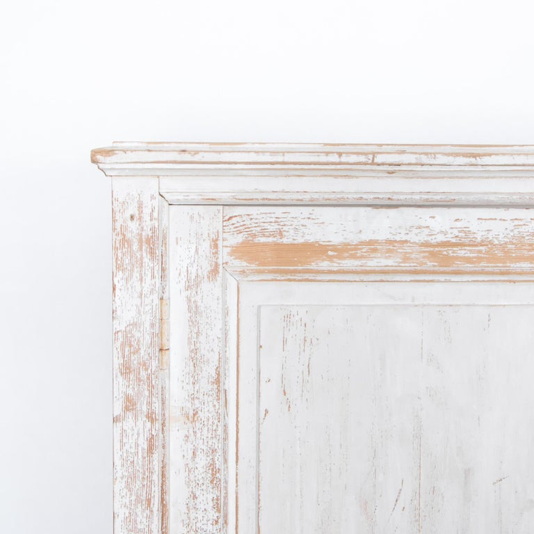Early 20th Century Antique White Painted French Five-Door Sideboard For Sale