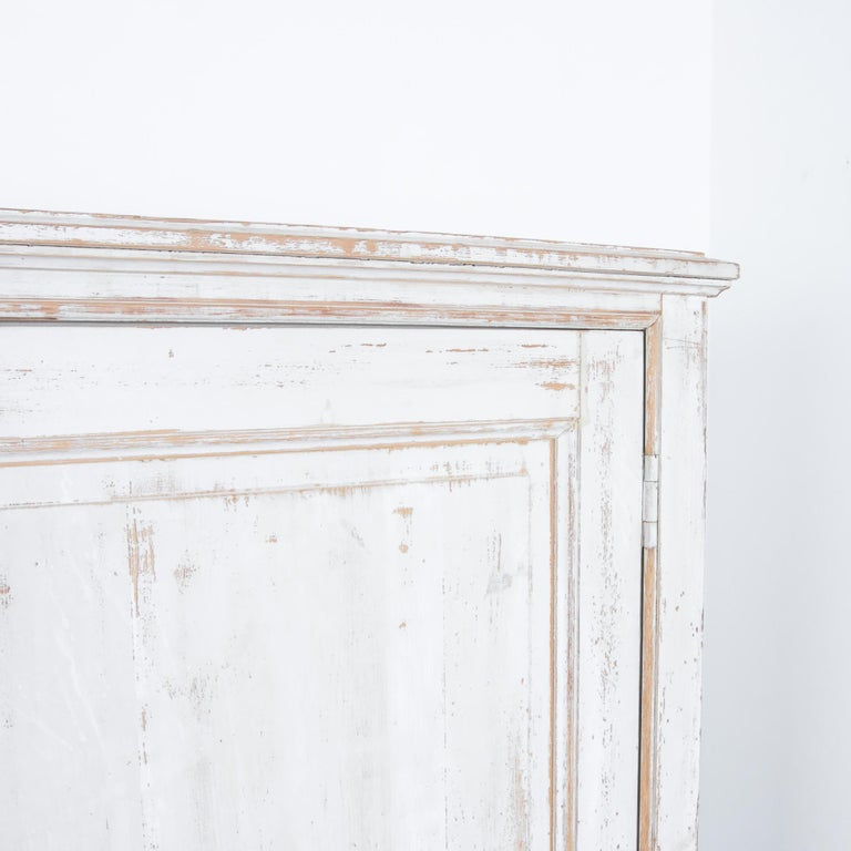 Antique White Painted French Five-Door Sideboard For Sale 1