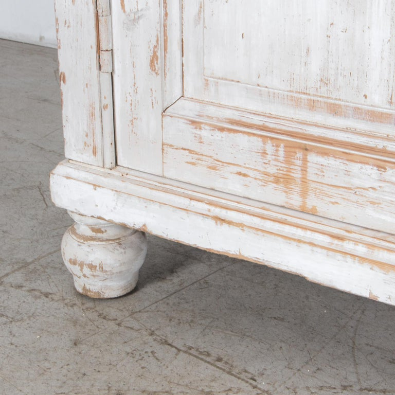 Antique White Painted French Five-Door Sideboard For Sale 3