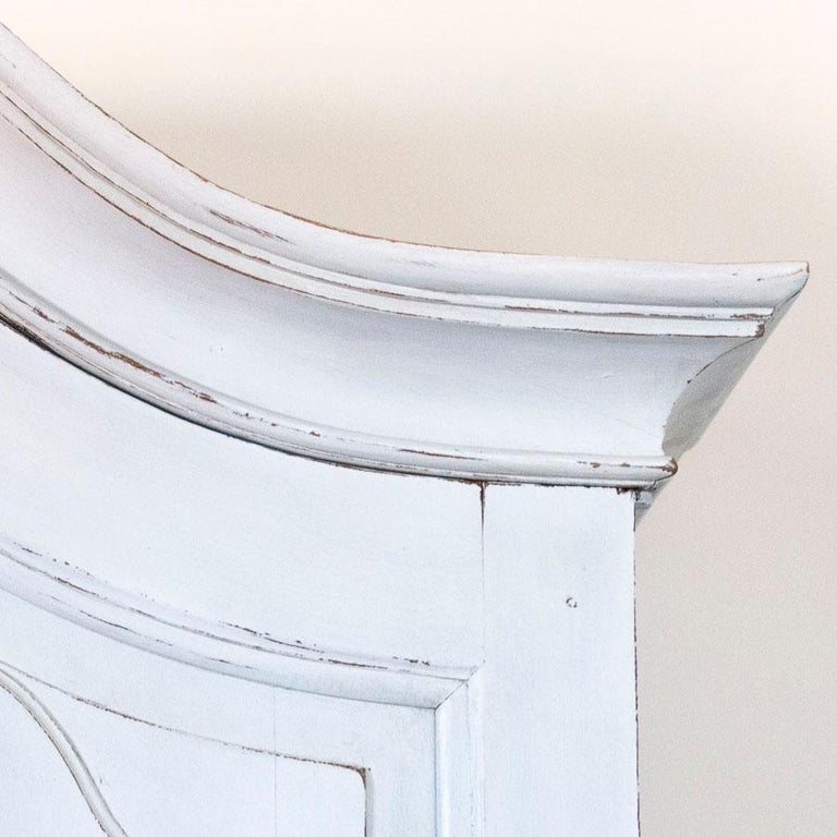 Antique White Painted Secretary from Sweden For Sale 3