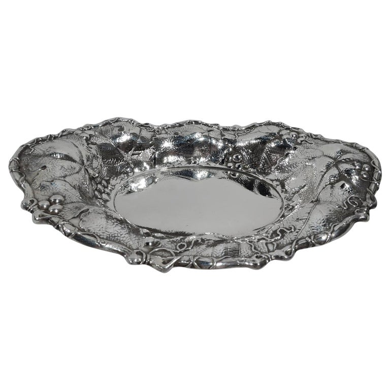 Antique Whiting Art Nouveau Sterling Silver Bowl For Sale