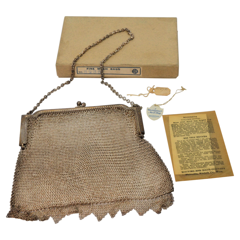 Antique Whiting & Davis Mesh Purse Bag