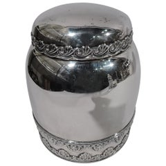 Antique Whiting Edwardian Classical Sterling Silver Tobacco Jar