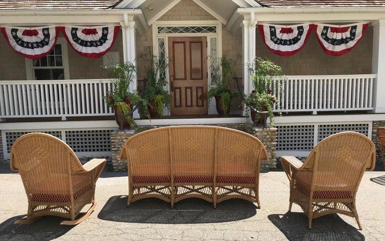 American Antique Wicker Porch Set For Sale