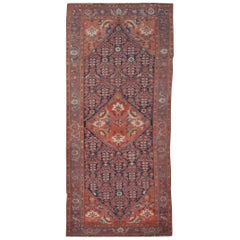 Antique Wide and Long Hand Knotted Wool Persian Malayer Rug