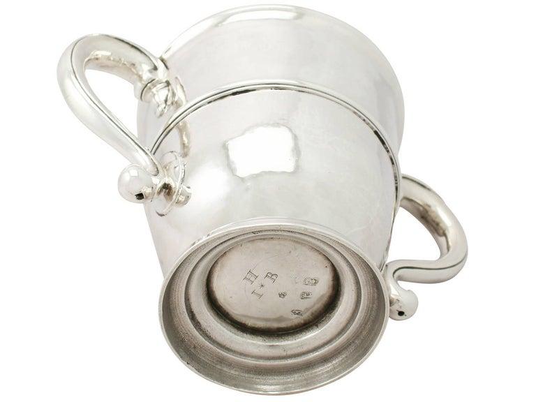 Late 17th Century 1600s Antique William III Britannia Standard Silver Cup and Cover