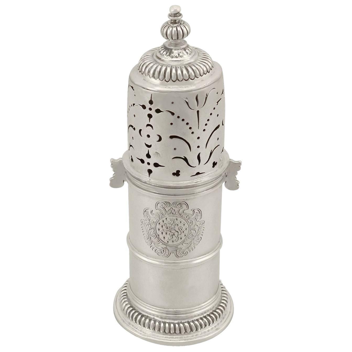 Antique William III Britannia Standard Silver Lighthouse Style Caster