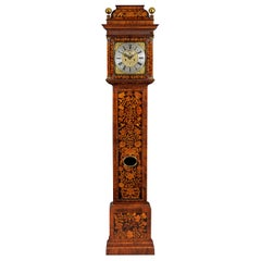 Antique William III Marquetry Longcase Clock by Stephen Rayner of London