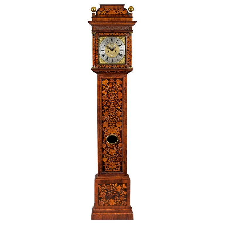 Antique William III Marquetry Longcase Clock by Stephen Rayner, London