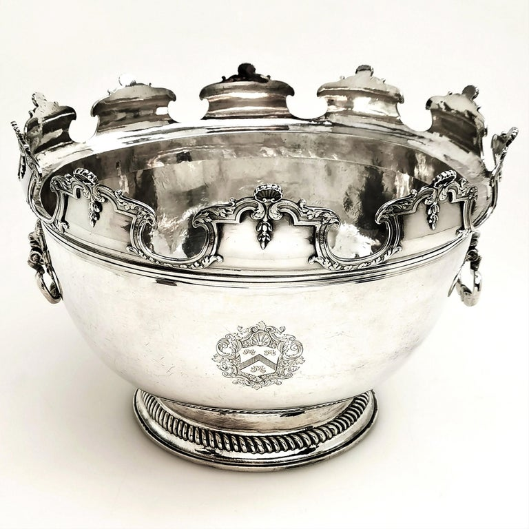 Antique William III Sterling Silver Punch Bowl / Large Bowl 1701 For Sale 7