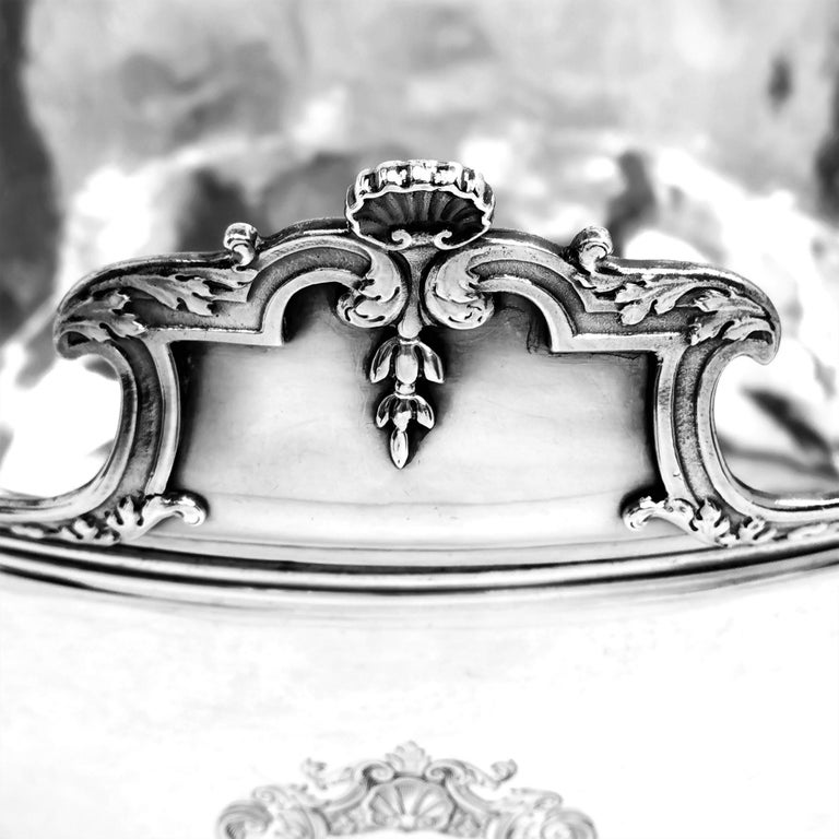 Antique William III Sterling Silver Punch Bowl / Large Bowl 1701 In Good Condition For Sale In London, GB