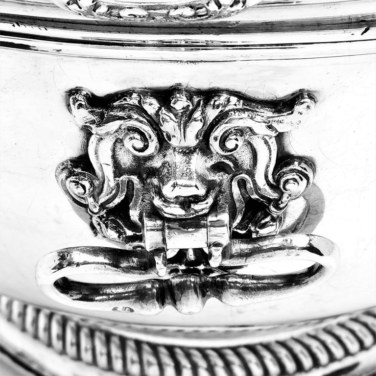 Antique William III Sterling Silver Punch Bowl / Large Bowl 1701 For Sale 1