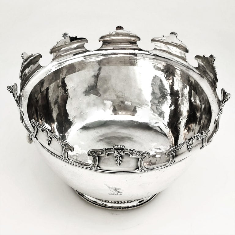 Antique William III Sterling Silver Punch Bowl / Large Bowl 1701 For Sale 3