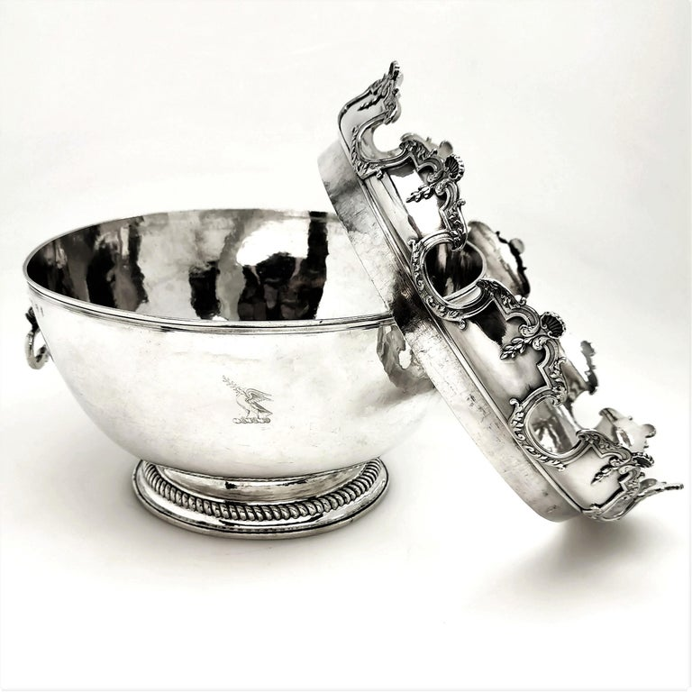 Antique William III Sterling Silver Punch Bowl / Large Bowl 1701 For Sale 4