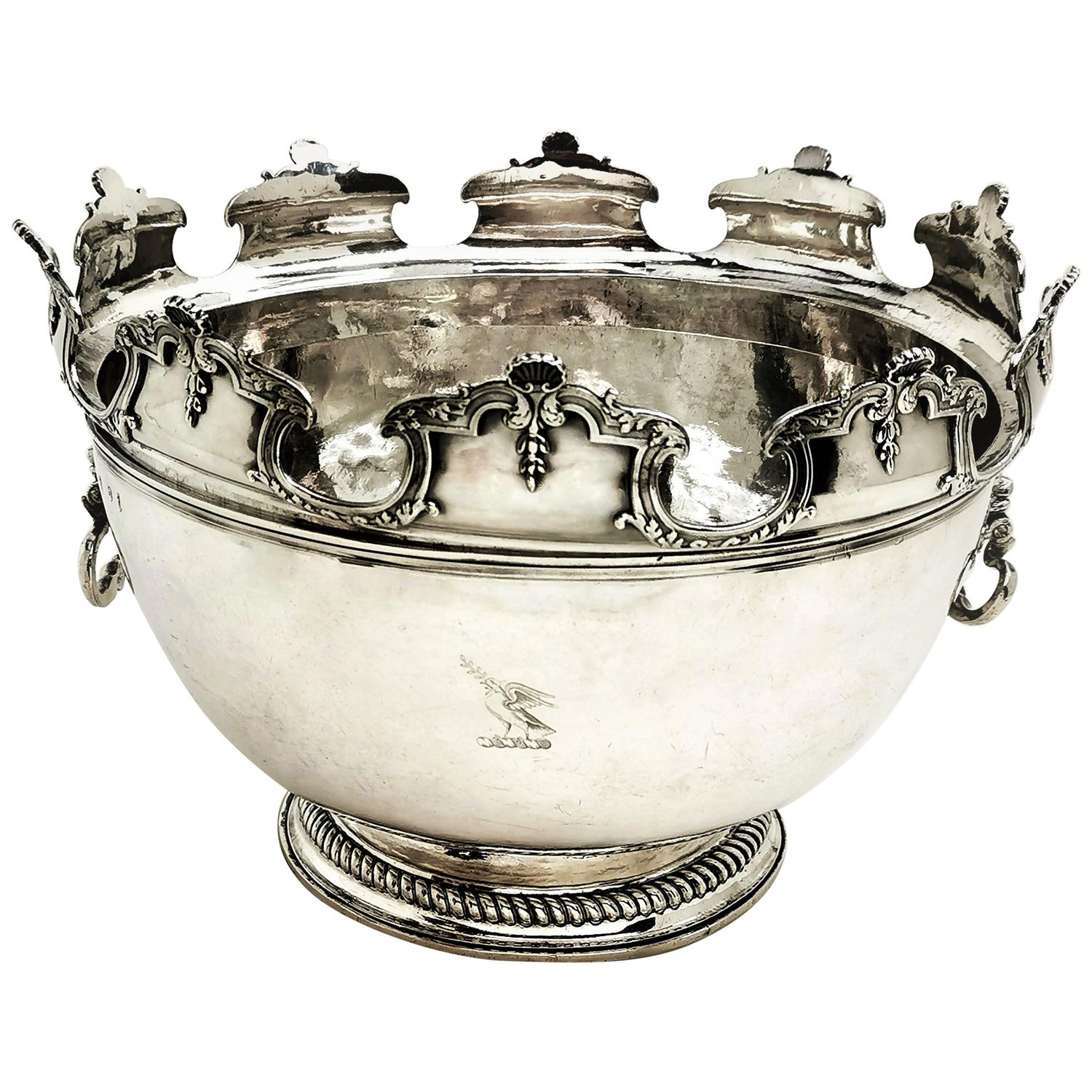Antique William III Sterling Silver Punch Bowl / Large Bowl 1701