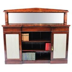 Antique William IV Chiffonier Open Bookcase Sideboard, 19th Century