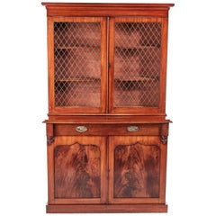 Antique William IV Mahogany Bookcase