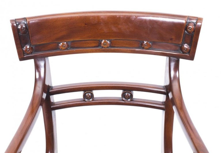 Antique William IV Mahogany Dining Table and 10 Chairs, 19th Century 13