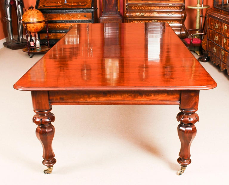 Antique William IV Mahogany Dining Table and 10 Chairs, 19th Century In Good Condition In London, GB