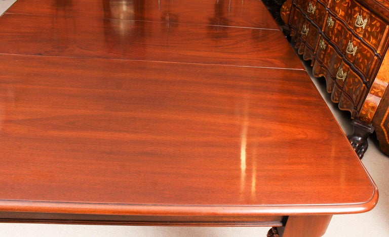Antique William IV Mahogany Dining Table 19th Century & 12 Dining Chairs 5