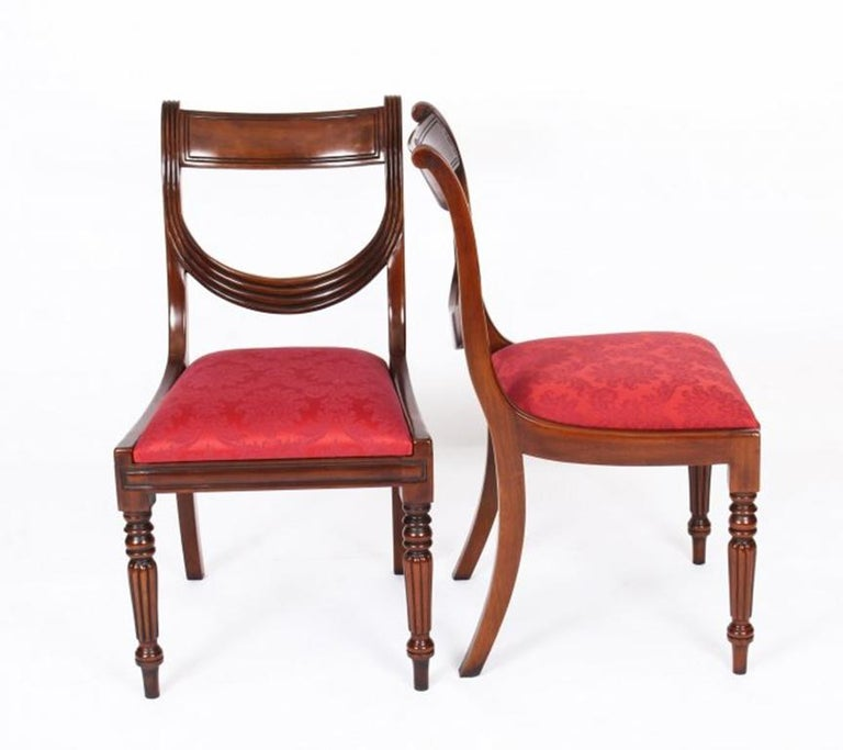 Antique William IV Mahogany Dining Table 19th Century & 12 Dining Chairs 11