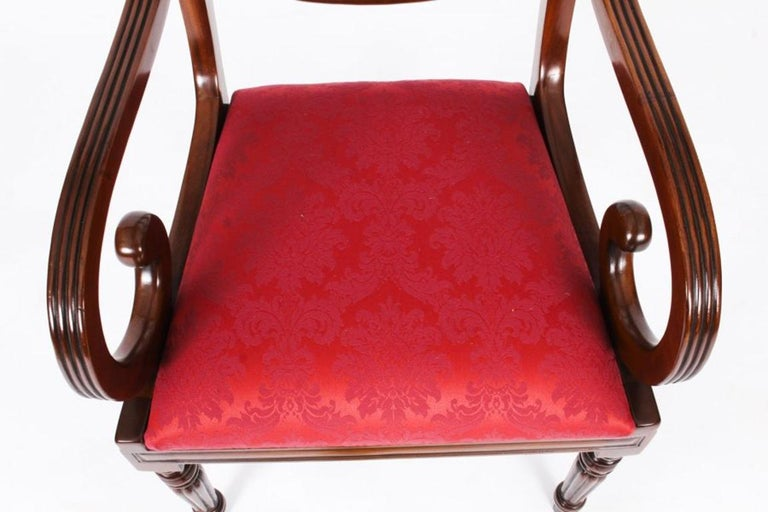 Antique William IV Mahogany Dining Table 19th Century & 12 Dining Chairs 14