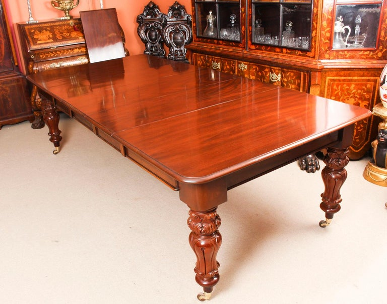Antique William IV Mahogany Dining Table 19th Century & 12 Dining Chairs In Good Condition In London, GB