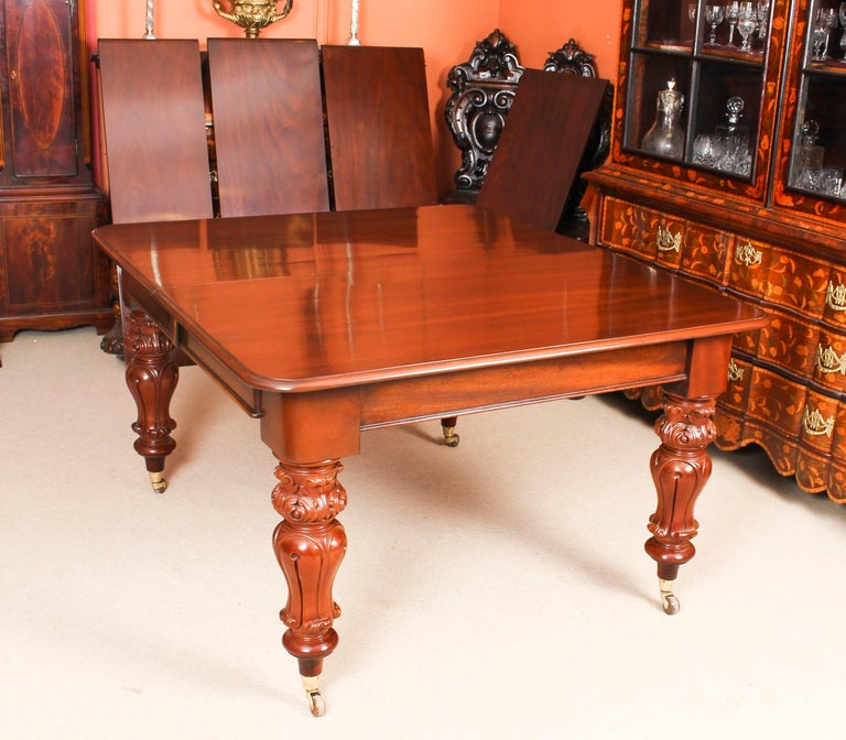 Antique William IV Mahogany Dining Table 19th Century & 12 Dining Chairs 2