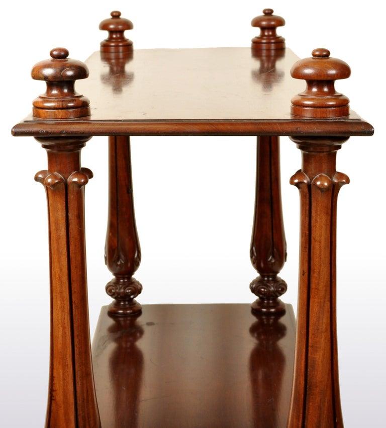 English Antique William IV Mahogany Dumb-Waiter / Server / Table, circa 1830 For Sale