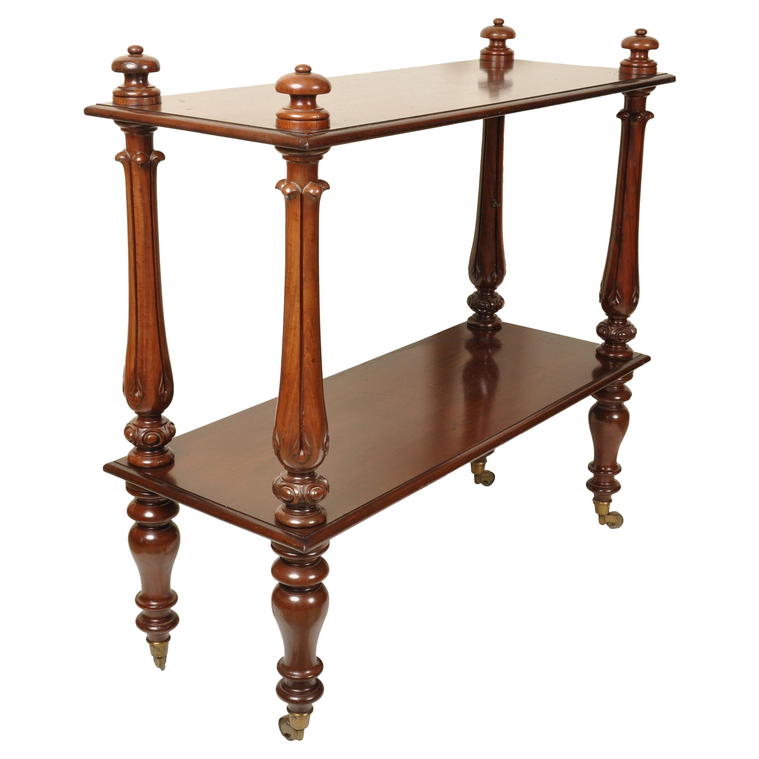 Antique William IV Mahogany Dumb-Waiter / Server / Table, circa 1830