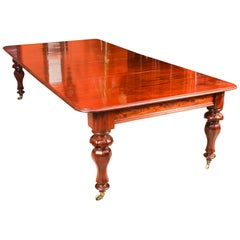Antique William IV Mahogany Extending Dining Table, 19th Century