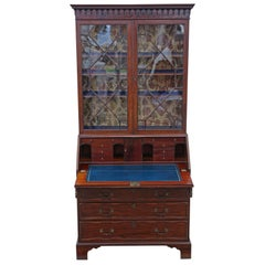 Antique William IV Mahogany Glazed Bureau Bookcase, circa 1835