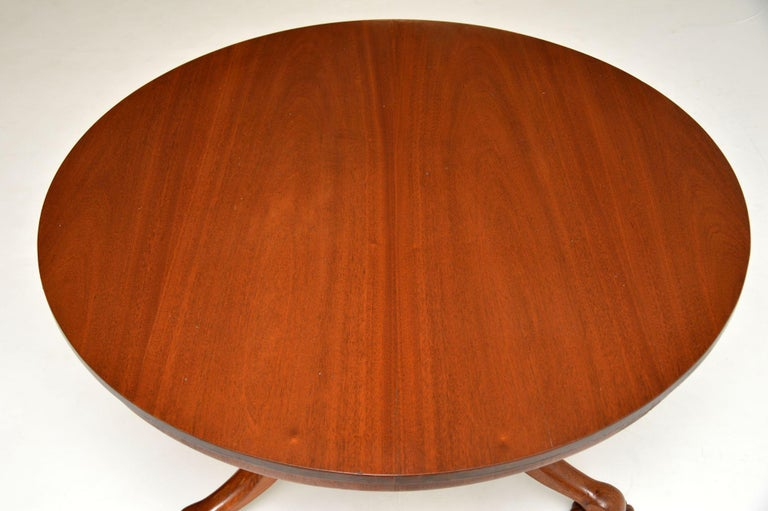 English Antique William IV Mahogany Tilt-Top Dining Table