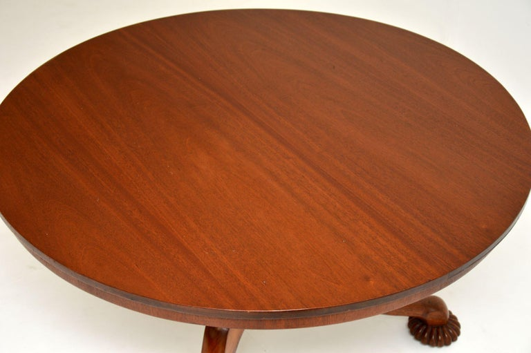 Antique William IV Mahogany Tilt-Top Dining Table 1