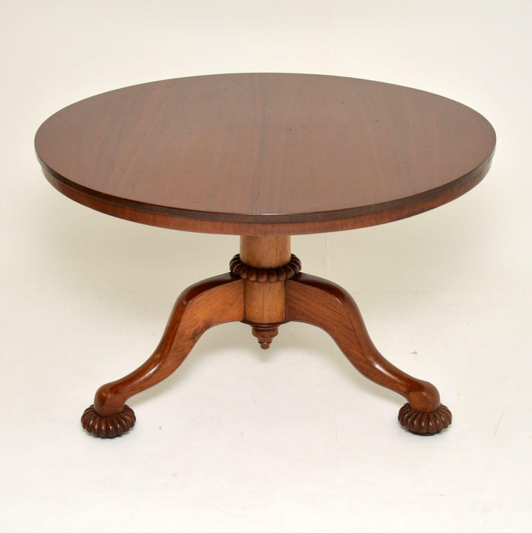 Antique William IV Mahogany Tilt-Top Dining Table 3
