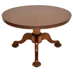 Antique William IV Mahogany Tilt-Top Dining Table