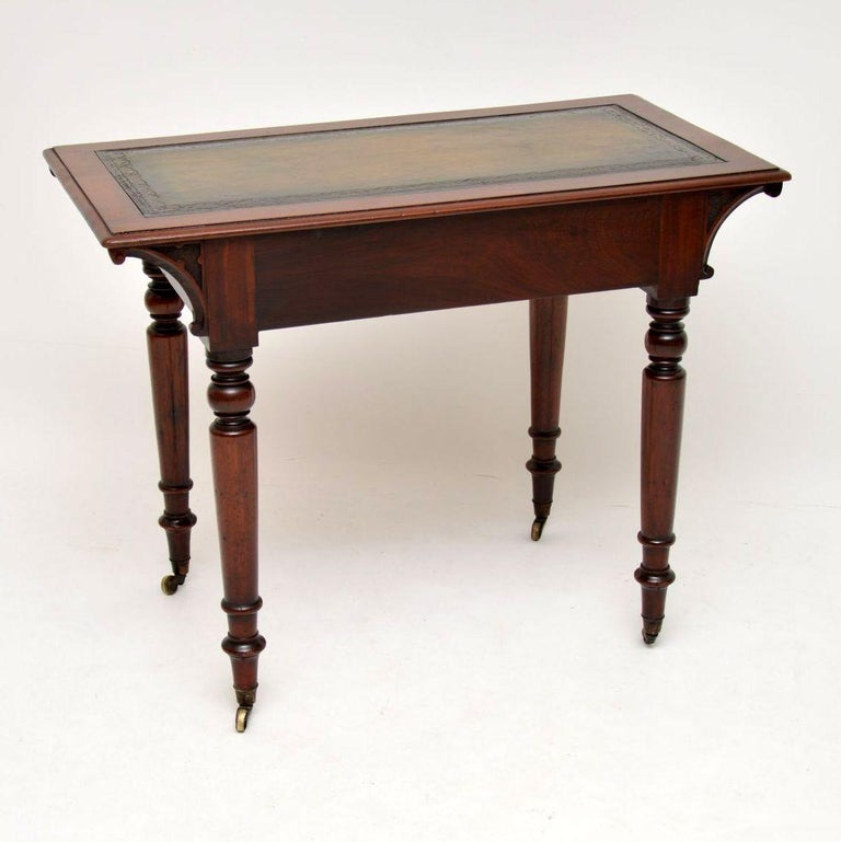 Antique William IV Mahogany Writing Table / Desk For Sale 4