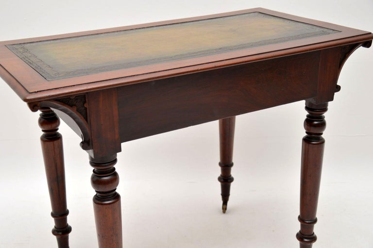 Antique William IV Mahogany Writing Table / Desk For Sale 5
