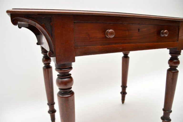 English Antique William IV Mahogany Writing Table / Desk For Sale