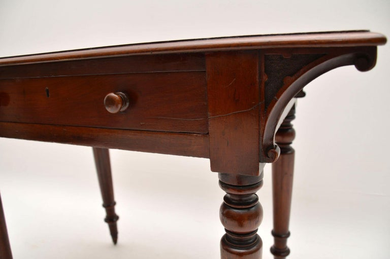 Antique William IV Mahogany Writing Table / Desk In Good Condition For Sale In London, GB