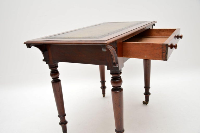 19th Century Antique William IV Mahogany Writing Table / Desk For Sale