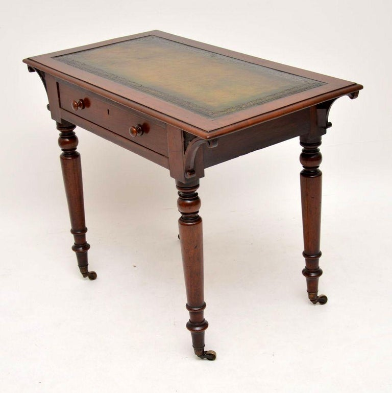 Antique William IV Mahogany Writing Table / Desk For Sale 1
