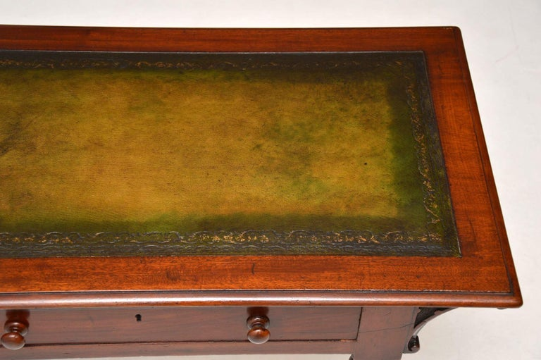 Antique William IV Mahogany Writing Table / Desk For Sale 2