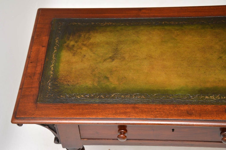 Antique William IV Mahogany Writing Table / Desk For Sale 3