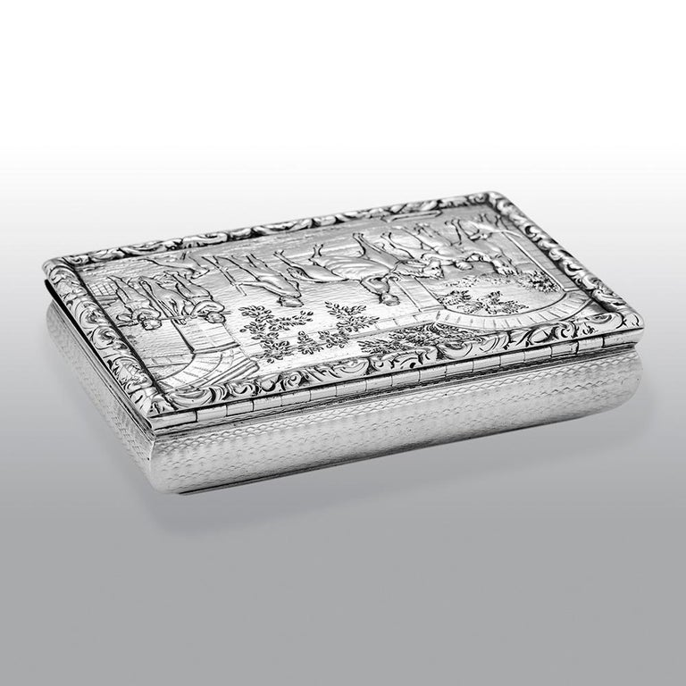 Antique William IV Scottish Sterling Silver Snuff Box James Naismith In Good Condition For Sale In Uckfield, Sussex