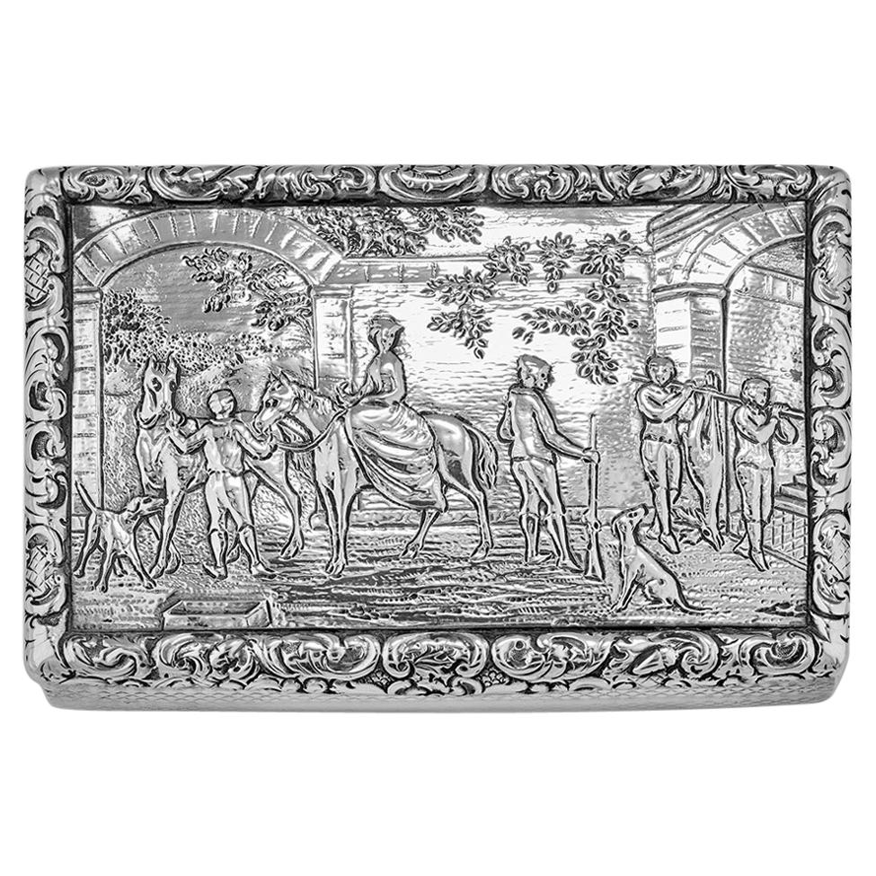 Antique William IV Scottish Sterling Silver Snuff Box James Naismith