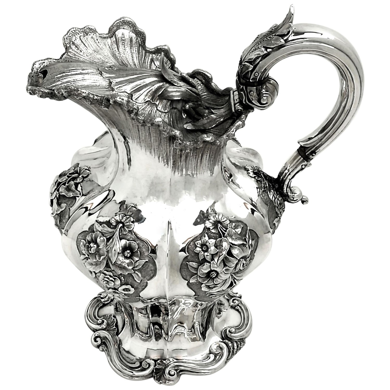 Antique William IV Sterling Silver Jug / Ewer / Pitcher 1831 Water Serving