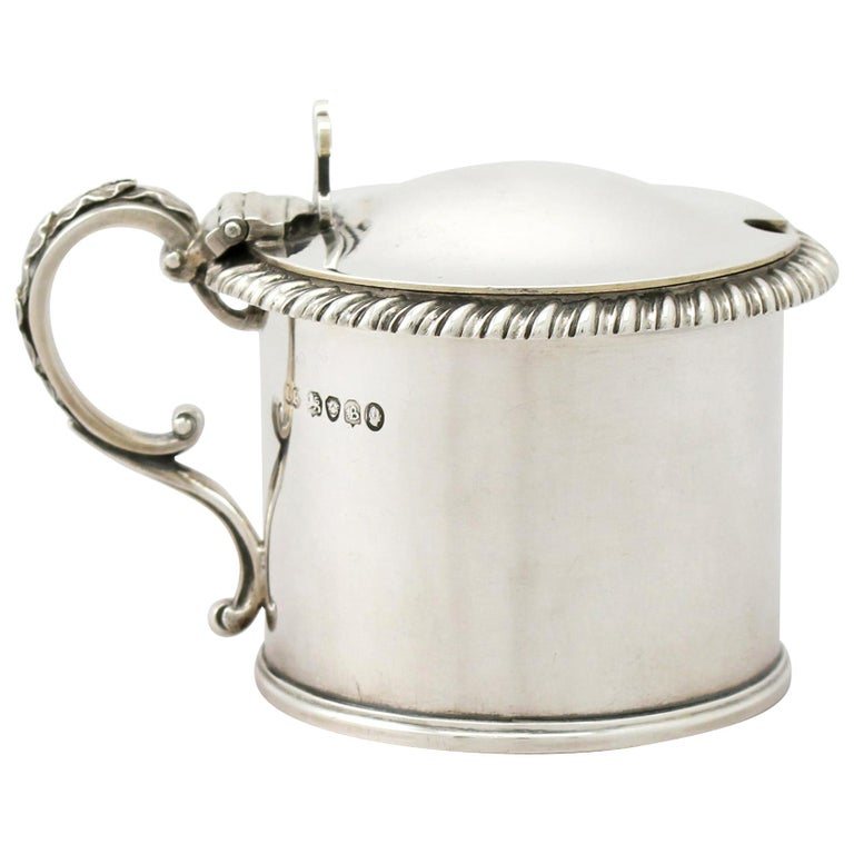 Antique William IV Sterling Silver Mustard Pot, 1837 For Sale