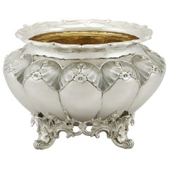 Antique William IV Sterling Silver Slop Bowl, 1835