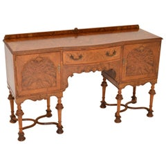 Antique William & Mary Style Burr Walnut Sideboard